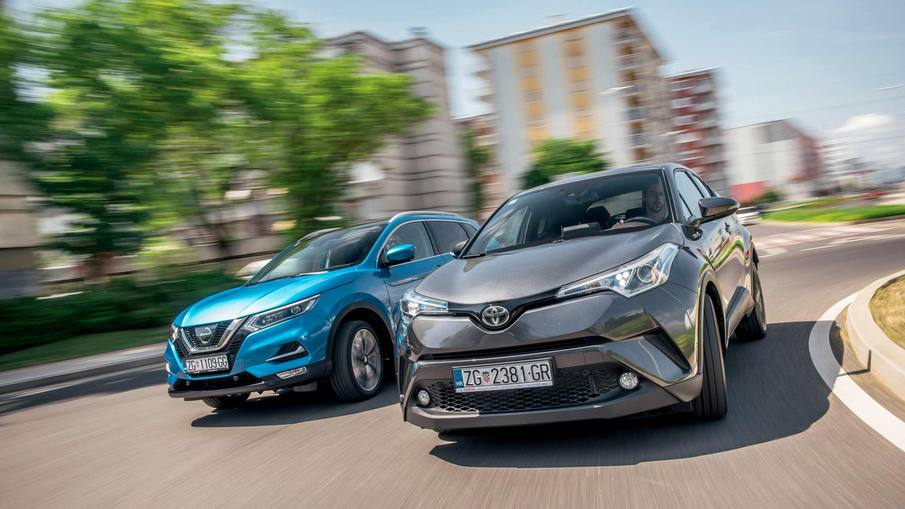Image for Usporedni test Nissan Qashqai vs. Toyota C-HR