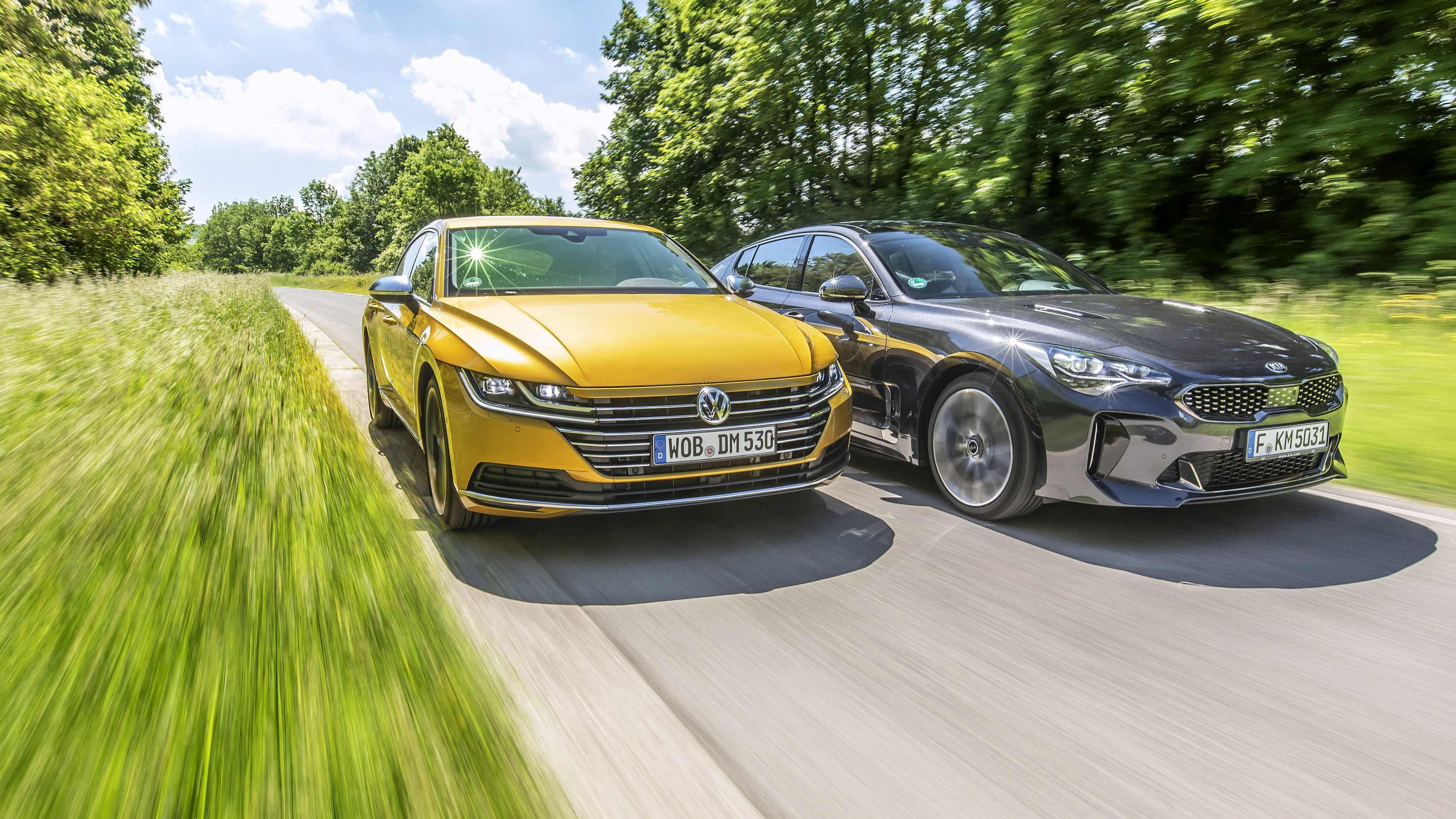 Image for Usporedni test Kia Stinger 2.0 T-GDI vs. VW Arteon 2.0 TSI 4Motion