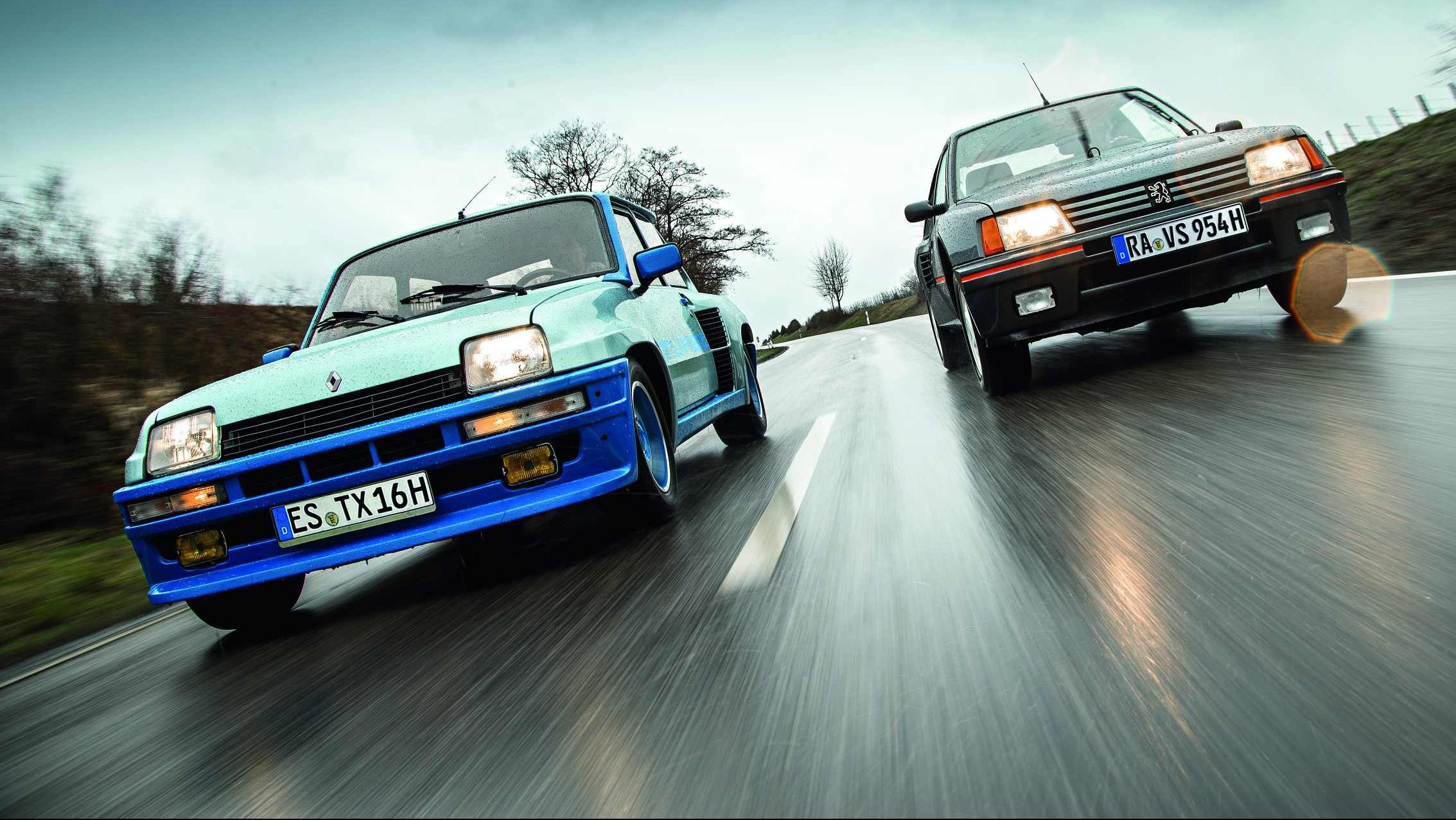 Image forPeugeot 205 Turbo 16 vs. Renault 5 Turbo. Ekskluzivna usporedba legendi!